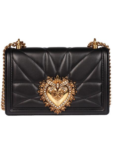 Dolce & Gabbana Chained Mini Crossbody Bag in nero