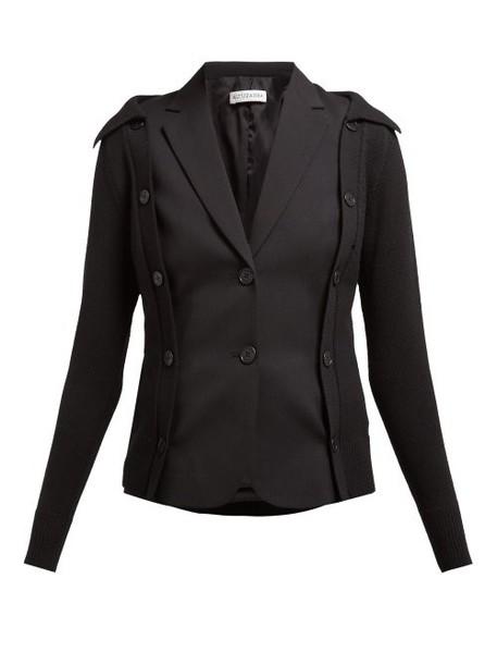 Altuzarra - Ravello Layered Wool Blend Blazer - Womens - Black