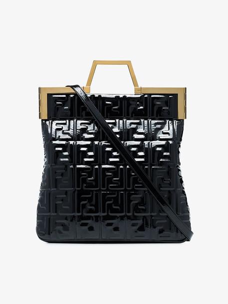 Fendi FF logo shopper in black