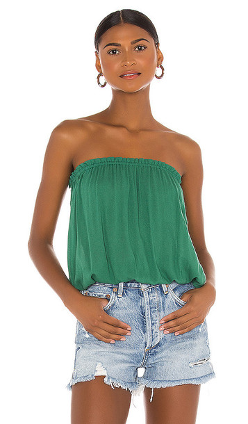 Indah Gemma Solid Tube Top in Green