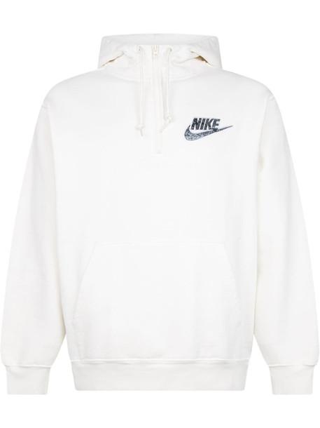 Supreme x Nike half zip hoodie - White