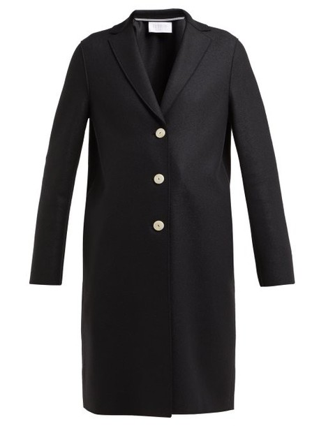 Harris Wharf London - Single Breasted Wool Coat - Womens - Black