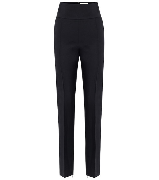 Alexandre Vauthier High-rise wool pants in black