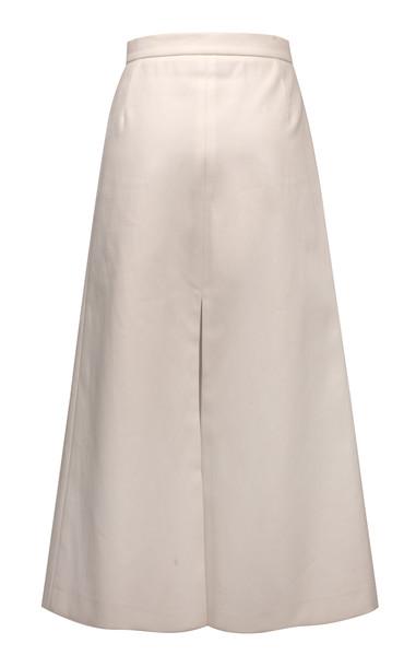 Lake Studio Flared Cotton Midi Skirt Size: 40 in white