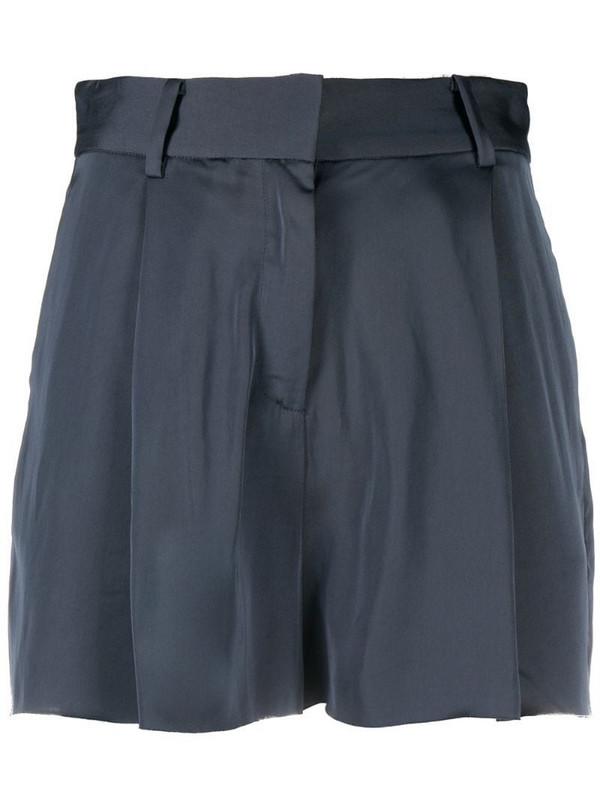 AllSaints tailored work wear shorts in blue