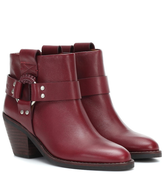 See By Chloé Eddy leather ankle boots in red
