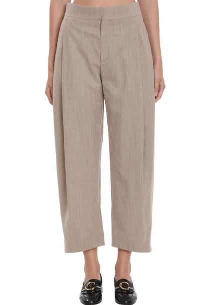 Chloé Chloé Pants In Beige Cotton