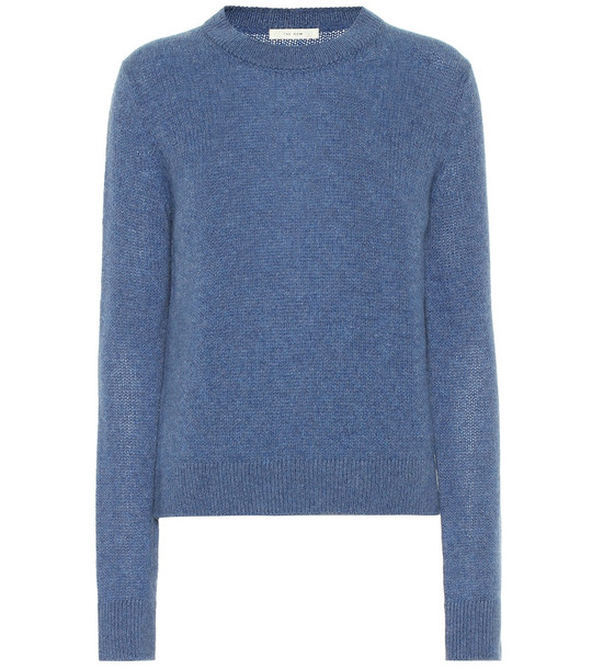 The Row Muriel cashmere sweater in blue