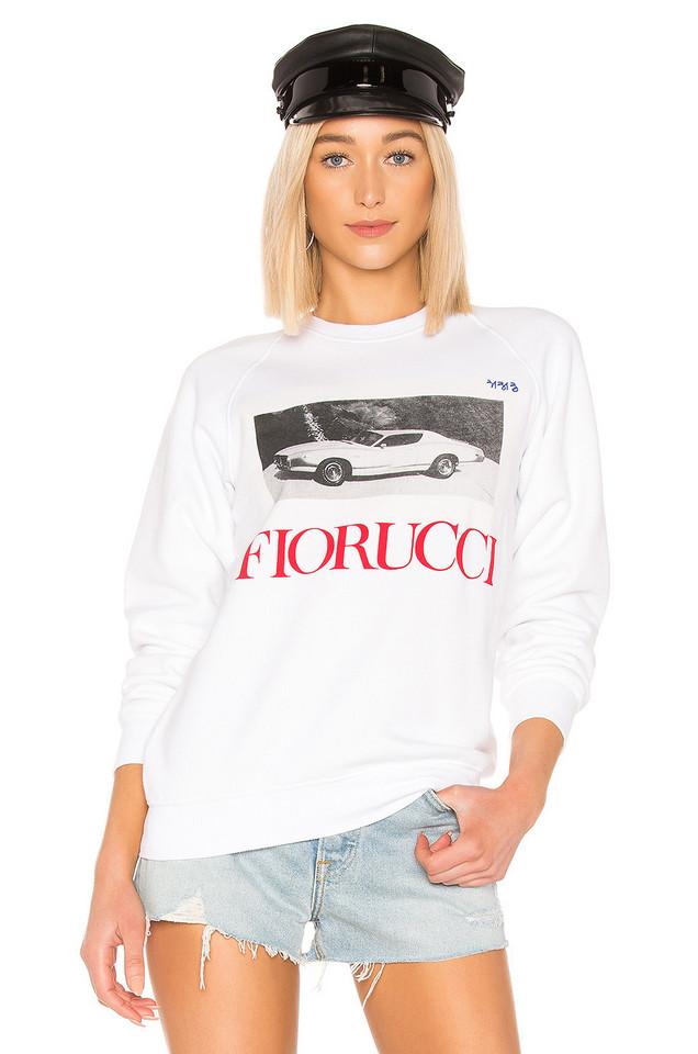Fiorucci Car Sweatshirt in white