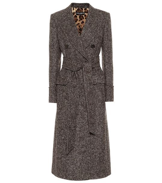 Dolce & Gabbana Tweed coat in grey