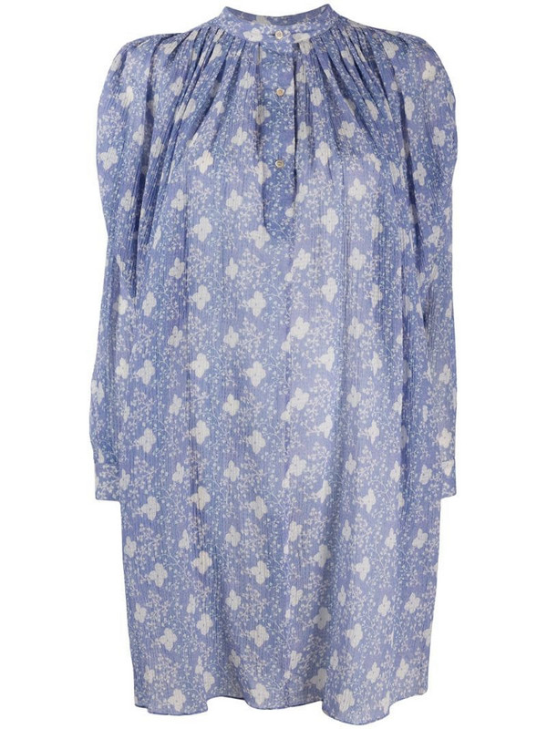Isabel Marant floral print baggy dress in purple