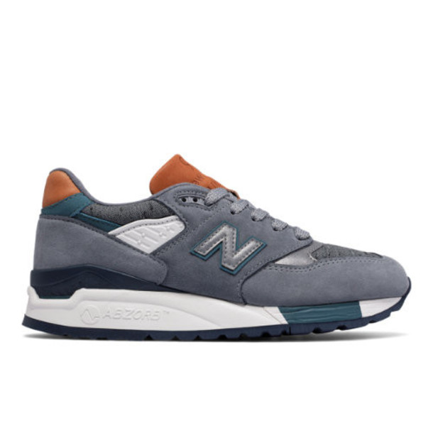 New Balance 998 Made in USA Women's Made in USA Shoes - Grey/Green (W998DTV)