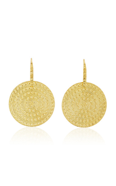 Ilias Lalaounis 18K Yellow Gold Ilion Disc Earrings