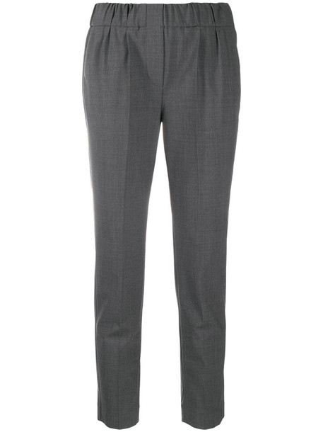 Brunello Cucinelli mid-rise cropped trousers in grey