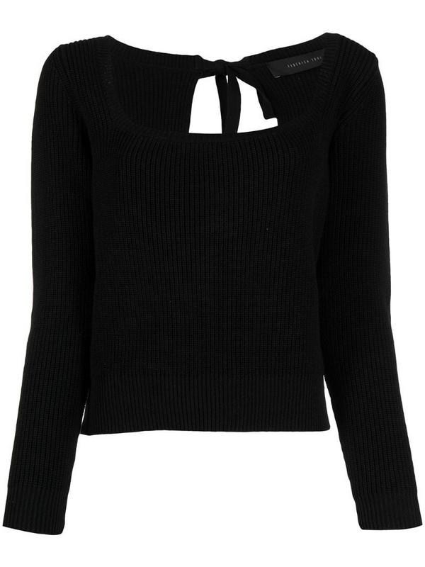 Federica Tosi rear tie-fastening jumper in black