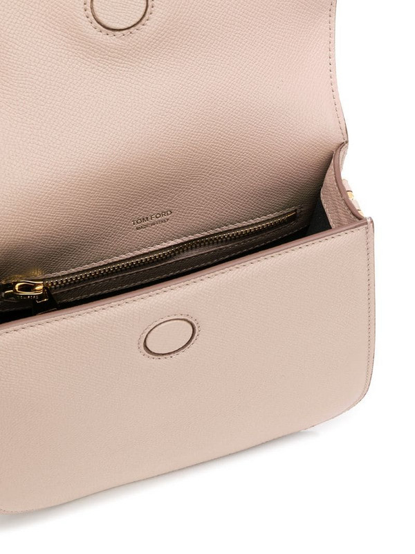 Tom Ford T plaque crossbody bag in pink