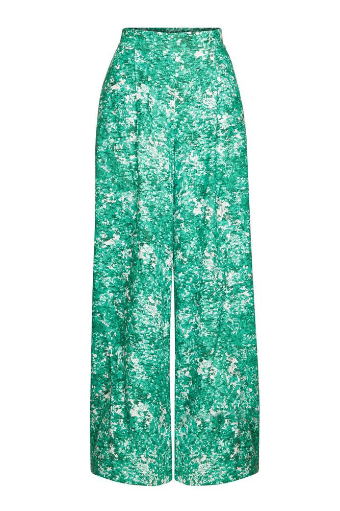 Steffen Schraut Hawaiian Summer Printed Straight Leg Pants  in green