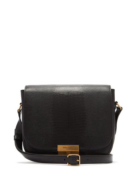 Saint Laurent - Betty Lizard Effect Leather Satchel - Womens - Black