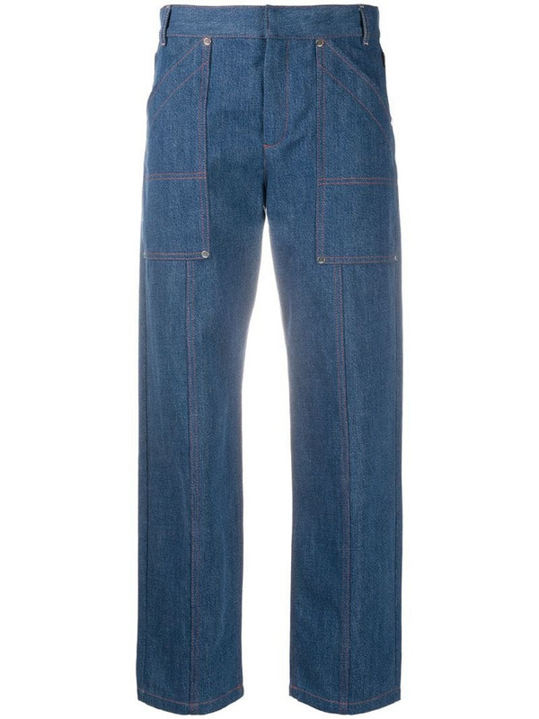 Chloé cropped straight-leg jeans in blue