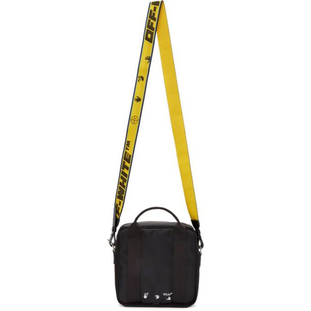 Off-White Black Logo Squared Shoulder Bag