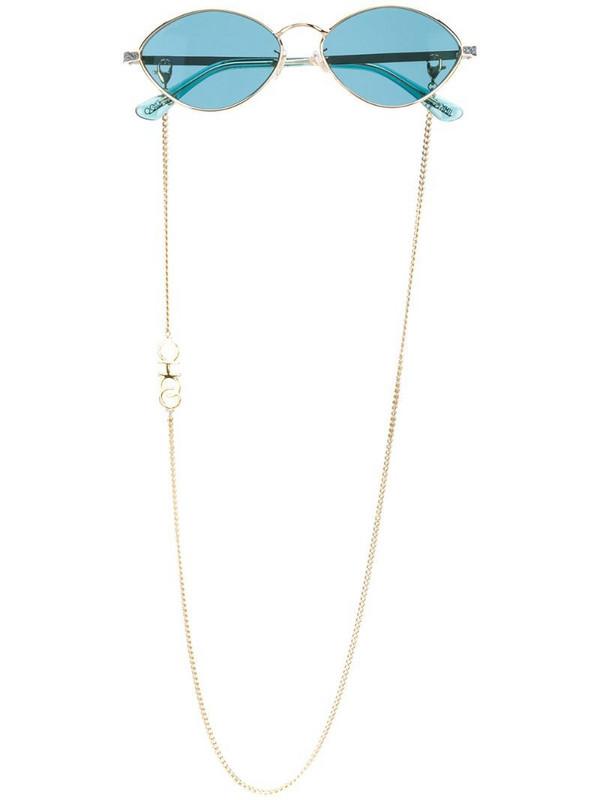 Jimmy Choo Eyewear Sonny oval frame sunglasses in blue