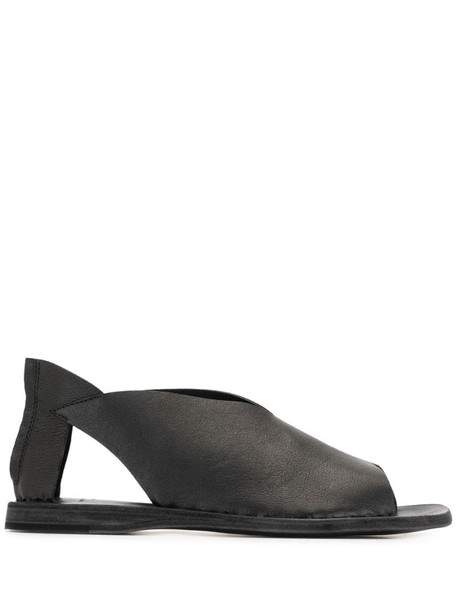 Officine Creative Itaca cut-out leather sandals in black