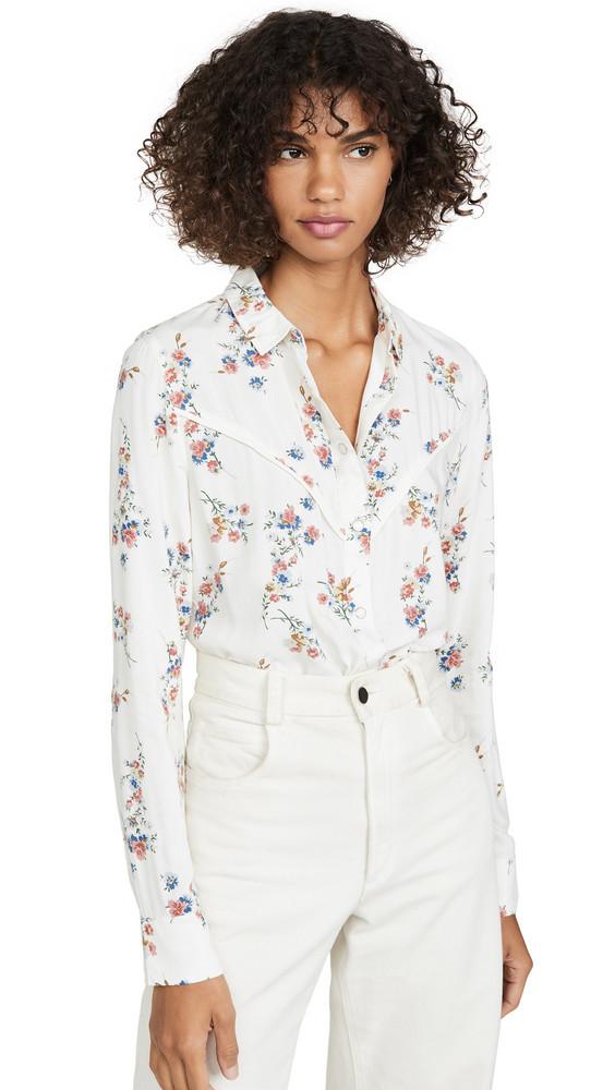 Wrangler Flower Shirt in white