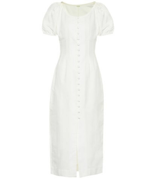 Cult Gaia Charlotte cotton and linen dress in white