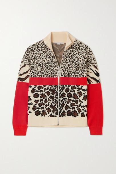 Stella McCartney - Intarsia Knitted Track Jacket - Leopard print