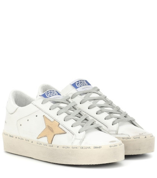 Golden Goose Hi Star leather sneakers in white