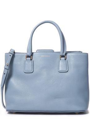 Dolce & Gabbana Woman Textured-leather Shoulder Bag Sky Blue Size --
