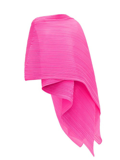 Pleats Please Issey Miyake - Madame Pleated Scarf - Womens - Pink