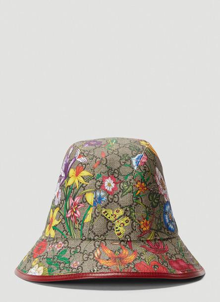 Gucci Ophidia Flora Bucket Hat in Beige size S