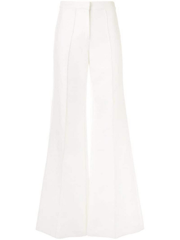Alexis high waisted wide leg trousers in white