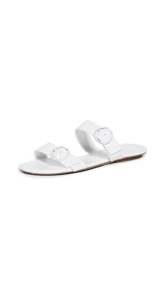 Schutz Alisa Double Band Sandals in white