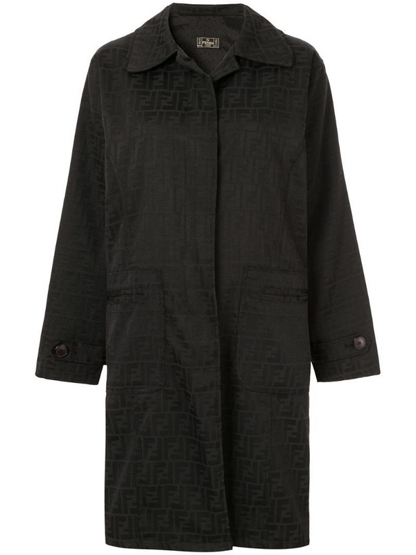 Fendi Pre-Owned long sleeve coat jacket in black