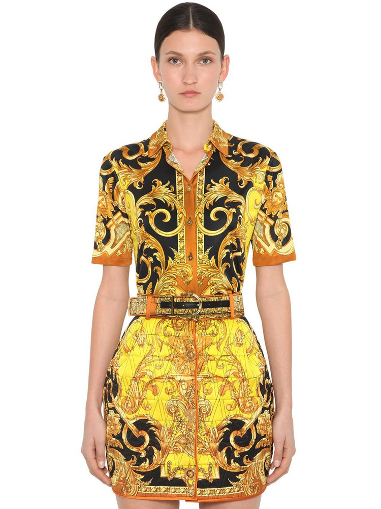 VERSACE Printed Stretch Jersey Shirt