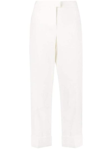 Fabiana Filippi cropped straight-leg trousers in neutrals