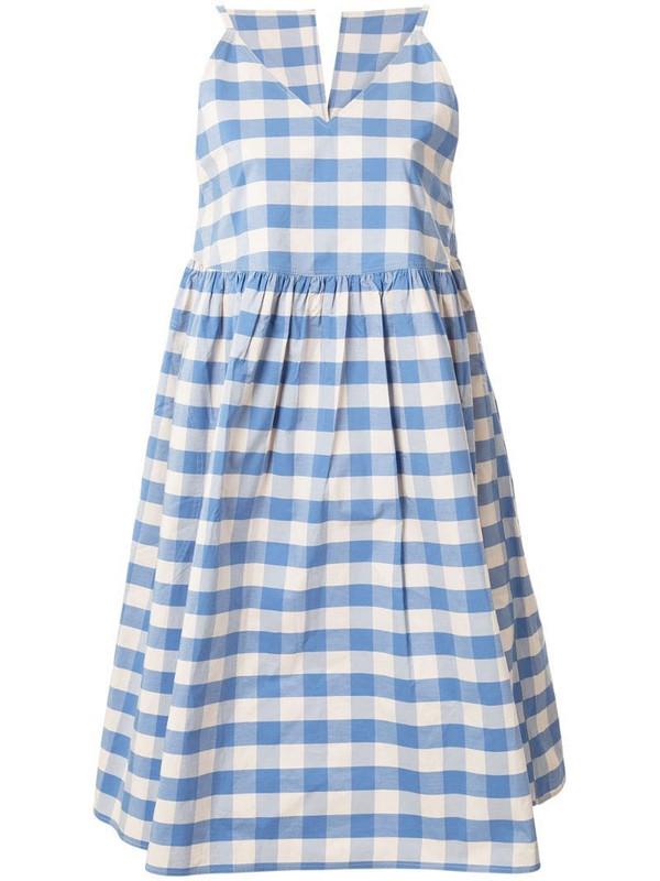 Sofie D'hoore Dumble gingham dress in blue