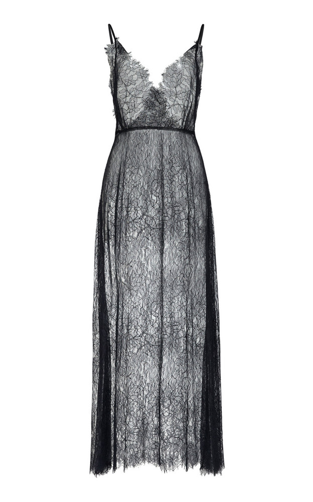 Beaufille Courbet Lace Midi Dress Size: 0 in black