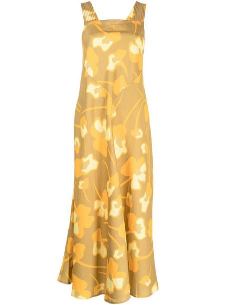 Lee Mathews Wren floral-print dress in yellow