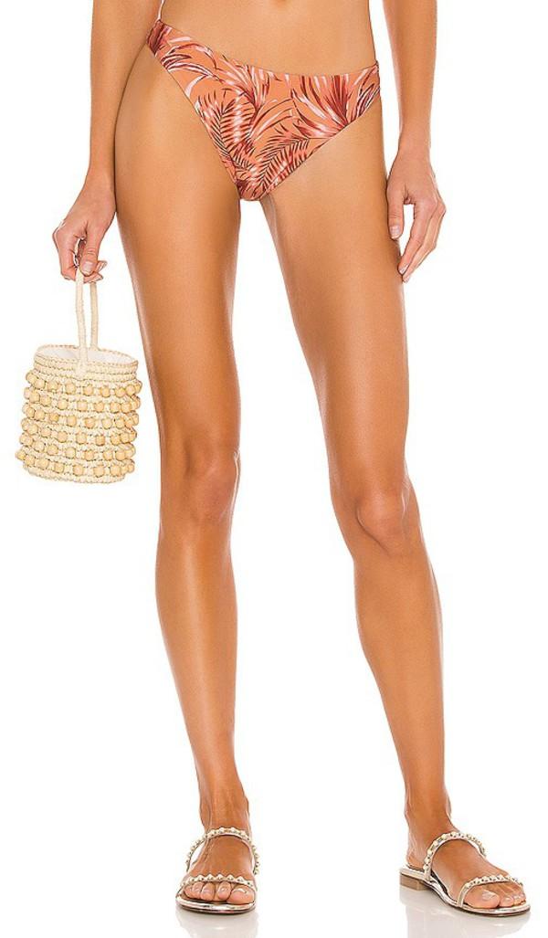MINKPINK Montego V Bikini Bottoms in Rust in multi
