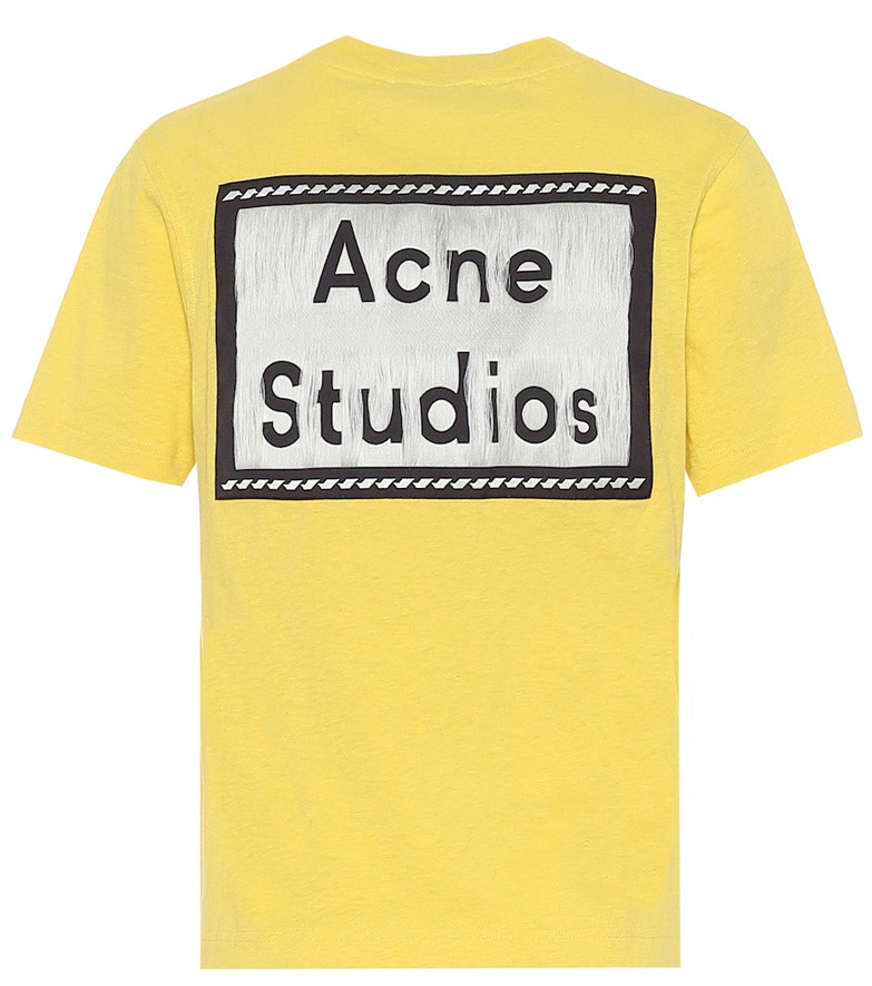 Acne Studios Reverse-label cotton T-shirt in yellow