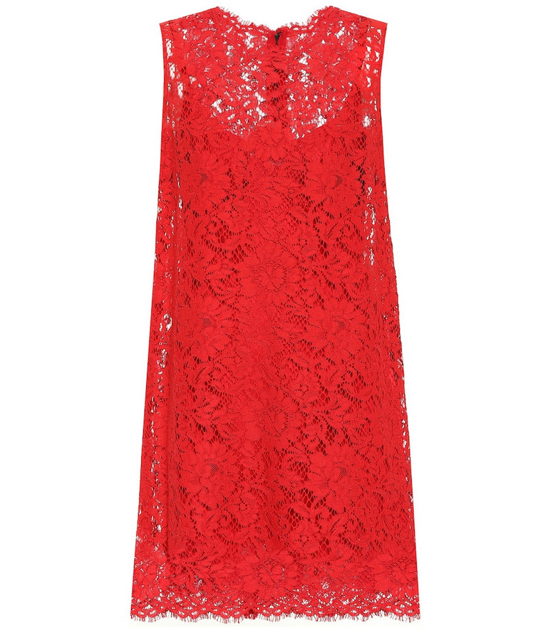 Dolce & Gabbana Lace minidress in red