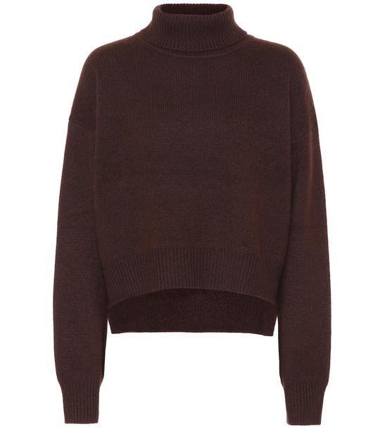 Rejina Pyo Lyn turtleneck cashmere sweater in brown