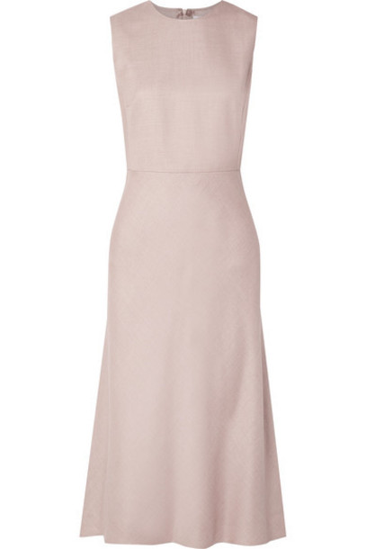 Max Mara - Camel Hair And Silk-blend Midi Dress - Pastel pink