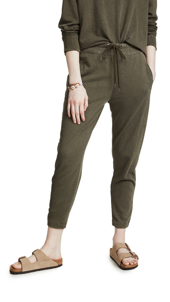 James Perse Fleece Pull On Sweatpants in green