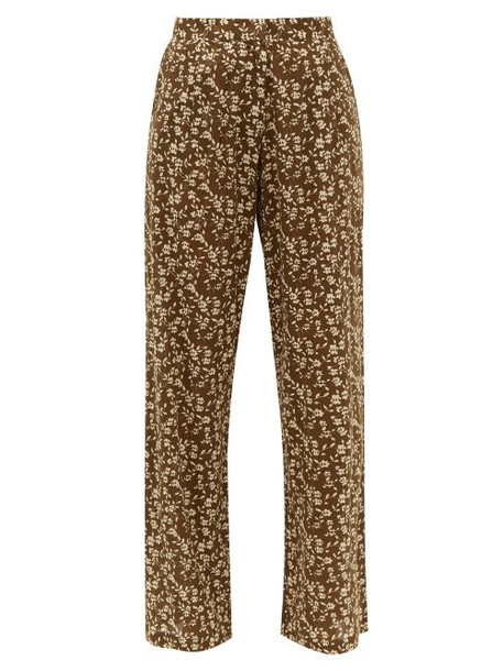 Dodo Bar Or - Hattie Floral Print Cotton Wide Leg Trousers - Womens - Red Print