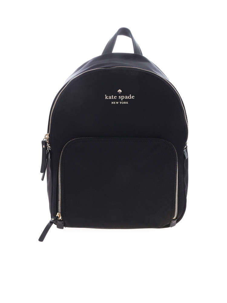 Kate Spade Logo Backpack in black