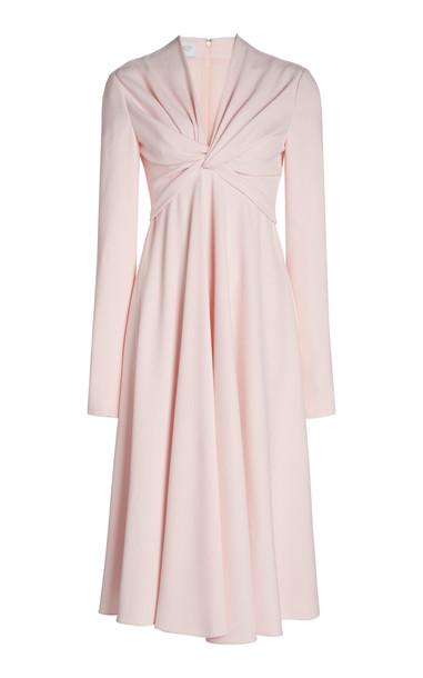 Giambattista Valli Twist-Detailed Crepe Midi Dress in neutral